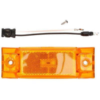 Truck-Lite 21080Y 21 Series, Diamond Shell, Reflectorized, LED, Yellow Rectangular, 2 Diode, M/C Light, PC, 2 Screw, 12V, Kit, Marker Clearance Light, Truck-Lite