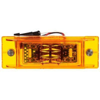 "Truck-Lite 21090Y 21 Series, LED, Yellow Rectangular, 16 Diode, Auxiliary W/59"" Mating Harness, M/C Light, P2, 2 Screw, 12V, Marker Clearance Light, Truck-Lite"