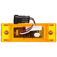 Truck-Lite 21092Y 21 Series, LED, Yellow Rectangular, 16 Diode, Auxiliary, M/C Light, P2, 2 Screw, 12V, Marker Clearance Light, Truck-Lite