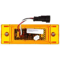 Truck-Lite 21095Y 21 Series, LED, Yellow Rectangular, 16 Diode, Auxiliary 12V, Marker Clearance Light, Truck-Lite