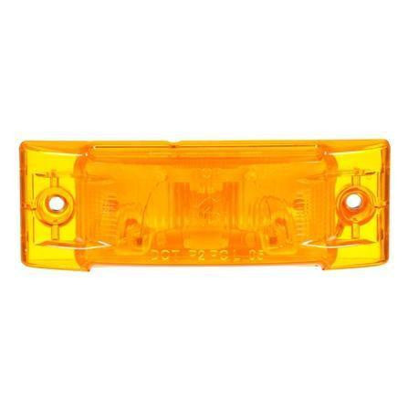 Truck-Lite 21200Y Super 21, Incan., Yellow Rectangular, 1 Bulb, M/C Light, PC, 2 Screw, 12V, Marker Clearance Light, Truck-Lite