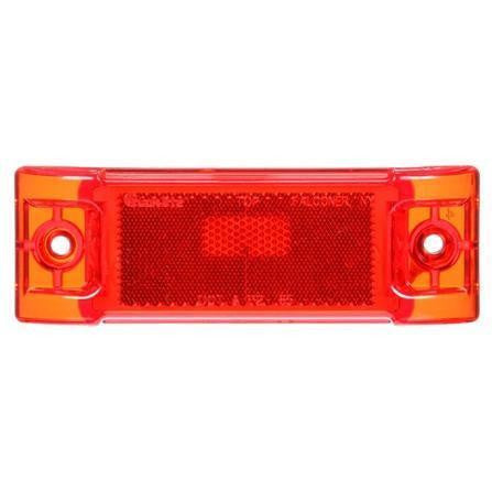 Truck-Lite 21201R Super 21, Reflectorized, Incan., Red Rectangular, 1 Bulb, M/C Light, P2, 2 Screw, 12V, Marker Clearance Light, Truck-Lite