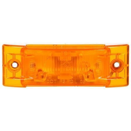 Truck-Lite 21205Y Super 21, Incan., Yellow Rectangular, 1 Bulb, M/C Light, PC, 2 Screw, 24V, Marker Clearance Light, Truck-Lite