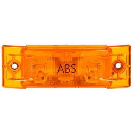 Truck-Lite 21210Y Super 21, Incan., Yellow Rectangular, 1 Bulb, ABS, M/C Light, PC, 2 Screw, 12V, Marker Clearance Light, Truck-Lite
