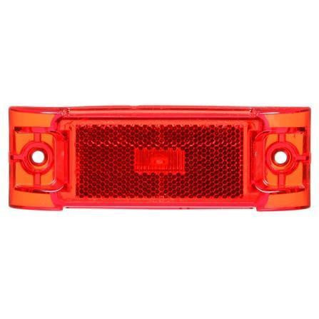 Truck-Lite 21251R Series 21, Reflectorized, LED, Red Rectangular, 3 Diode, M/C Light, PC, 2 Screw, 12V, Marker Clearance Light, Truck-Lite