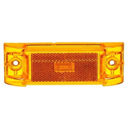 Truck-Lite 21251Y Series 21, Reflectorized, LED, Yellow Rectangular, 3 Diode, M/C Light, PC, 2 Screw, 12V, Marker Clearance Light, Truck-Lite
