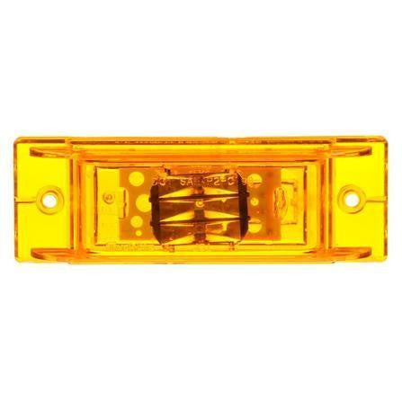 Truck-Lite 21275Y 21 Series, LED, Yellow Rectangular, 8 Diode, M/C Light, PC, 2 Screw, 12V, Marker Clearance Light, Truck-Lite