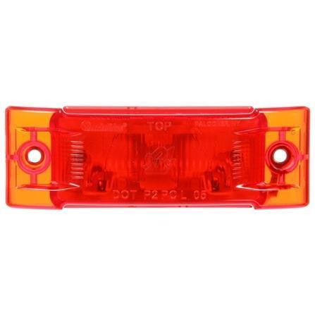 Truck-Lite 21506R Super 21, Incan., Red Rectangular, 1 Bulb, M/C Light, PC, 2 Screw, 12V, Marker Clearance Light, Truck-Lite