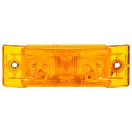 Truck-Lite 21506Y Super 21, Incan., Yellow Rectangular, 1 Bulb, M/C Light, PC, 2 Screw, 12V, Marker Clearance Light, Truck-Lite