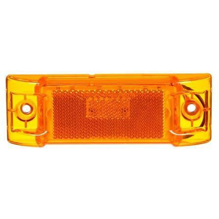 Truck-Lite 2150A Reflectorized, LED, Yellow Rectangular, 8 Diode, M/C Light, P2, 2 Screw, 12V, Marker Clearance Light, Truck-Lite