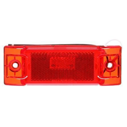 Truck-Lite 2150 Reflectorized, LED, Red Rectangular, 8 Diode, M/C Light, P2, 2 Screw, 12V, Marker Clearance Light, Truck-Lite