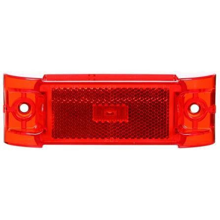 Truck-Lite 21880R 21 Series, Diamond Shell, Reflectorized, LED, Red Rectangular, 1 Diode, M/C Light, PC, 2 Screw, 12V, Marker Clearance Light, Truck-Lite