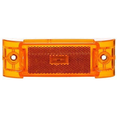 Truck-Lite 21880Y 21 Series, Diamond Shell, Reflectorized, LED, Yellow Rectangular, 2 Diode, M/C Light, PC, 2 Screw, 12V, Marker Clearance Light, Truck-Lite