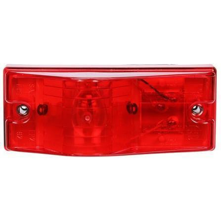 Truck-Lite 22004R 22 Series Incan Red Rectangular 1 Bulb w/Gasket Side Turn Signal 2 Screw 12V Kit