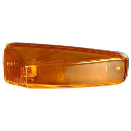 Truck-Lite 25761Y 25 Series, Incan., Yellow Triangular, 1 Bulb, M/C Light, PC, Gray 2 Screw Surface, 12V, Marker Clearance Light, Truck-Lite
