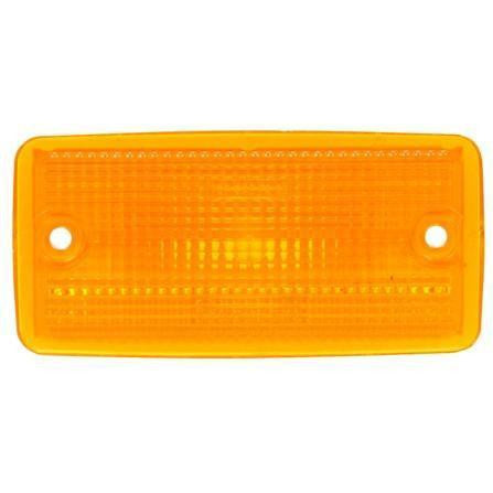 Truck-Lite 25765Y 25 Series, Reflectorized, Incan., Yellow Rectangular, M/C Light, P2, 2 Screw, Marker Clearance Light, Truck-Lite