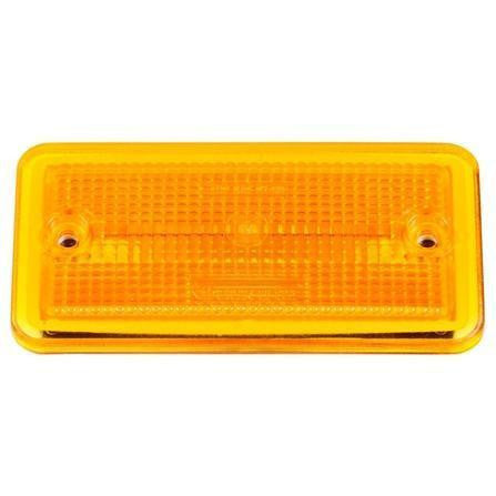 Truck-Lite 25766Y 25 Series, Reflectorized, Incan., Yellow Rectangular, M/C Light, P2, 2 Screw, Marker Clearance Light, Truck-Lite