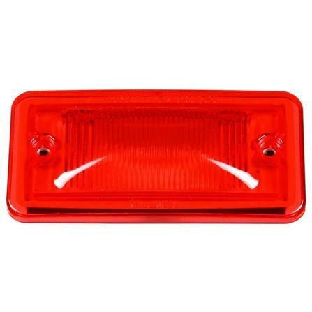 Truck-Lite 25784R 25 Series, Incan., Red Rectangular, M/C Light, PC, 2 Screw, Marker Clearance Light, Truck-Lite