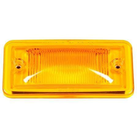 Truck-Lite 25784Y 25 Series, Incan., Yellow Rectangular, M/C Light, PC, 2 Screw, Marker Clearance Light, Truck-Lite