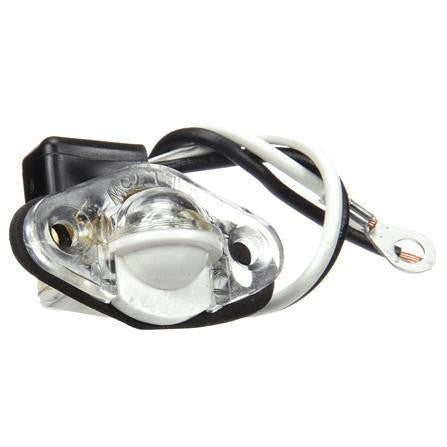 Truck-Lite 26001 Incan., 1 Bulb, Clear, Round, Courtesy Light, Clear, Gasket, 12V, Kit