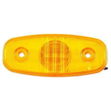 Truck-Lite 26251Y 26 Series, LED, Yellow Rectangular, 3 Diode, M/C Light, P2, 2 Screw, 12V, Marker Clearance Light, Truck-Lite