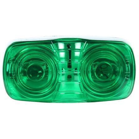 Truck-Lite 26302G 26 Series, Incan., Green Rectangular, 2 Bulb, Permastat, M/C Light, 2 Screw, 12V, Marker Clearance Light, Truck-Lite