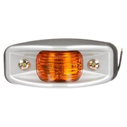 Truck-Lite 26311Y 26 Series, Incan., Yellow Rectangular, 1 Bulb, M/C Light, PC, Silver 2 Screw, 12V, Marker Clearance Light, Truck-Lite