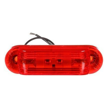 Truck-Lite 26312R 26 Series, Incan., Red Oval, 2 Bulb, M/C Light, P2, 2 Screw, 12V, Marker Clearance Light, Truck-Lite