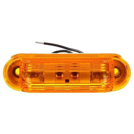 Truck-Lite 26312Y 26 Series, Incan., Yellow Oval, 2 Bulb, M/C Light, P2, 2 Screw, 12V, Marker Clearance Light, Truck-Lite