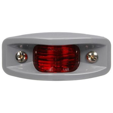 Truck-Lite 26313R 26 Series, Incan., Red Rectangular, 2 Bulb, ABS, M/C Light, PC, Silver Bracket Mount, 12V, Marker Clearance Light, Truck-Lite