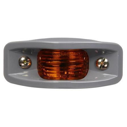 Truck-Lite 26313Y 26 Series, Incan., Yellow Rectangular, 2 Bulb, ABS, M/C Light, PC, Silver Bracket Mount, 12V, Marker Clearance Light, Truck-Lite