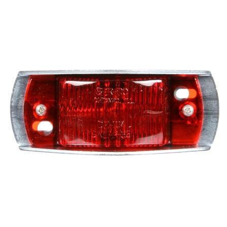 Truck-Lite 26315R 26 Series, Incan., Red Rectangular, 1 Bulb, Armored, M/C Light, P2, Silver Bracket Mount, 12V, Marker Clearance Light, Truck-Lite
