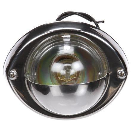 Truck-Lite 26391C Incan 1 Bulb Clear Round Stepwell Light 24V