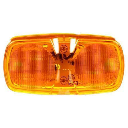 Truck-Lite 2660A LED, Yellow Rectangular, 16 Diode, M/C Light, P2, 2 Screw, 12V