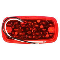 Truck-Lite 2660 LED, Red Rectangular, 16 Diode, M/C Light, P2, 2 Screw, 12V