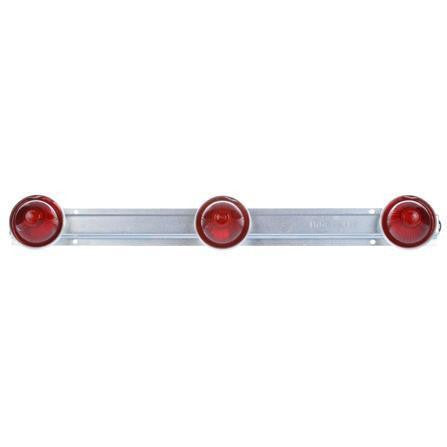 "Truck-Lite 26740R 26 Series, 9"" Centers, Incan., Red, Beehive, ID Bar, Silver, 12V, Kit, Identification Bar, Truck-Lite"