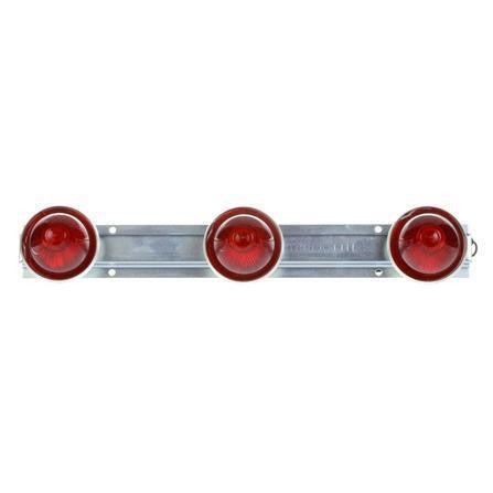 "Truck-Lite 26741R 26 Series, 6"" Centers, Incan., Red, Beehive, ID Bar, Silver, 12V, Kit, Identification Bar, Truck-Lite"
