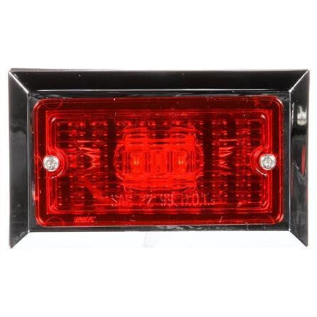 Truck-Lite 2675 LED, Red Rectangular, 2 Diode, M/C Light, P2, 2 Screw, 12V