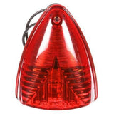 Truck-Lite 26771R 26 Series, Incan., Red Triangular, 1 Bulb, M/C Light, PC, Black 2 Screw, 12V, Marker Clearance Light, Truck-Lite