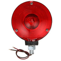 Truck-Lite 2702 Single Face, Incan., Red Round, 1 Bulb, Black, 2 Wire, Pedestal Light