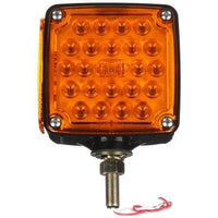 Truck-Lite 2752 Dual Face, Vertical Mount, LED, Yellow/Yellow Square, 24 Diode, Pedestal Light