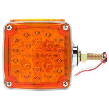 Truck-Lite 2753 Dual Face, LH, Vertical Mount, LED, Red/Yellow Square, 24 Diode, Pedestal Light