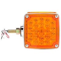 Truck-Lite 2756 Dual Face, RH, Vertical Mount, LED, Red/Yellow Square, 24 Diode,  Pedestal Light