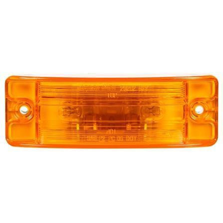 Truck-Lite 29002Y 21 Series, Incan., Yellow Rectangular, 2 Bulb, Male Pin, M/C Light, PC, 2 Screw, 12V, Kit