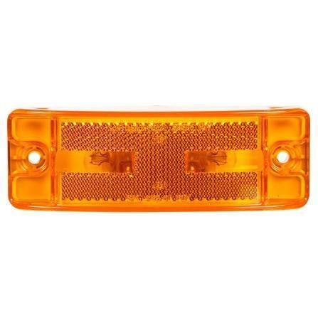 Truck-Lite 29003Y 21 Series, Reflectorized, Incan., Yellow Rectangular, 2 Bulb, Male Pin, M/C Light, PC, 2 Screw, 12V, Kit