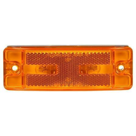 Truck-Lite 29203Y 21 Series, Reflectorized, Incan., Yellow Rectangular, 2 Bulb, Male Pin, M/C Light, PC, 2 Screw, 12V