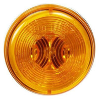Truck-Lite 30001Y 30 Series, Incan., Yellow Round, 1 Bulb, M/C Light, PC, Silver Bracket/2 Screw, 12V, Kit