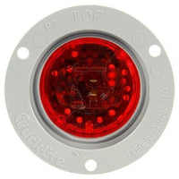 Truck-Lite 30061R 30 Series, LED, Red Round, 3 Diode, European Surface, M/C Light, ECE, Gray Flange, 12-24V, Kit