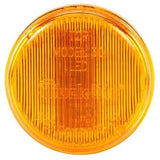 Truck-Lite 30070Y 30 Series, LED, Yellow Round, 2 Diode, Low Profile, M/C Light, P3, Black Grommet, 12V, Kit