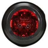 Truck-Lite 30075R 30 Series, LED, Red Round, 8 Diode, High Profile, M/C Light, PC, Black Grommet, 12V, Kit